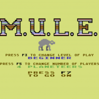 Title screen for M.U.L.E., a computer game by Ozark Softscape/EA 1983