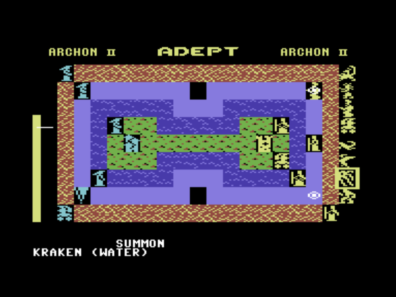 Snap of Archon II: Adept, a computer game for the C64 by EA 1983