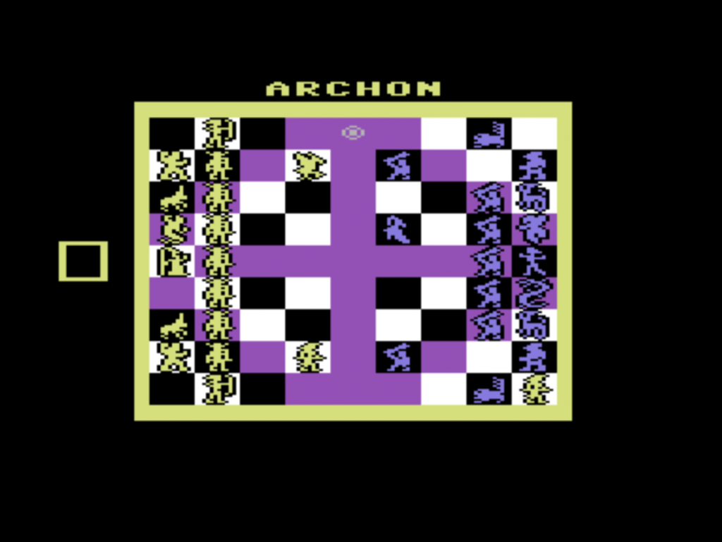 Snap of Archon: The Light and the Dark, a computer game for the C64 by EA 1983