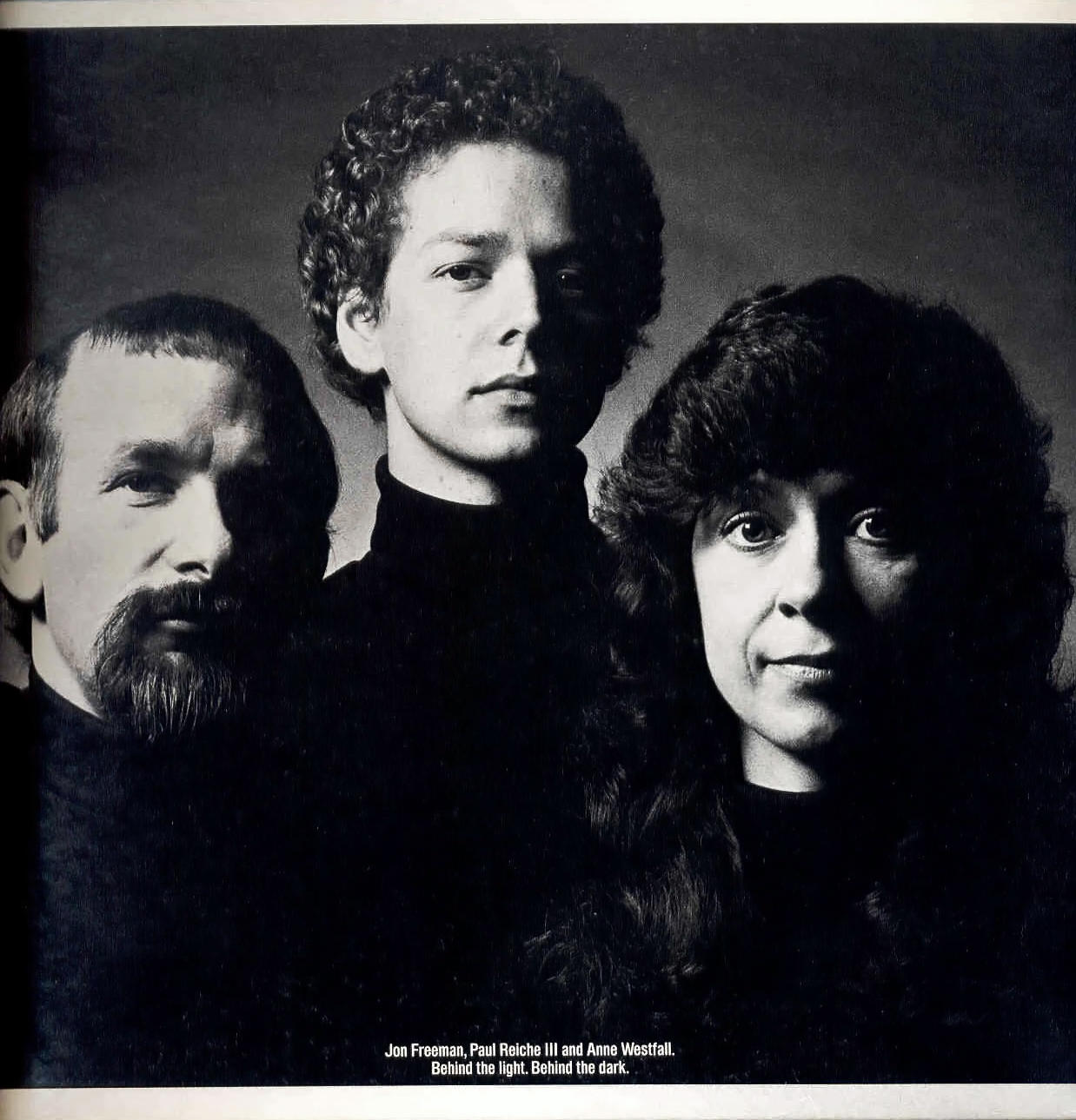 Image of Jon Freeman, Paul Reiche III and Anne Westfall, creators of Archon for Electronic Arts 1983