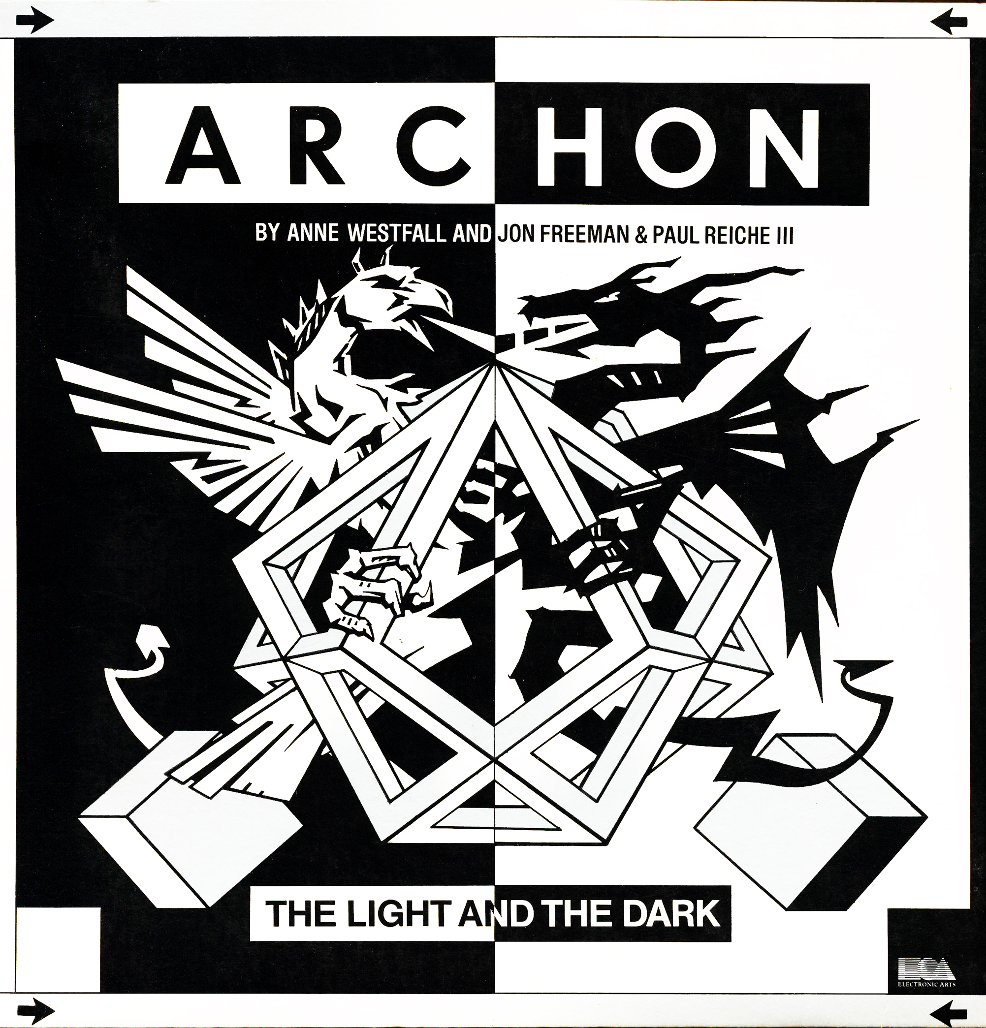 Cover of Archon, a computer video game by Electronic Arts 1983