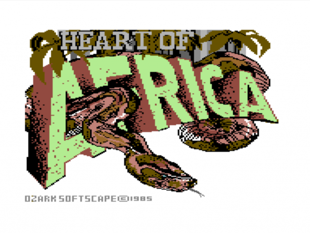 Title screen for Heart of Africa, a computer game by Ozark Softscape/EA 1995