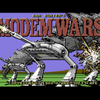 Title screen for Modem Wars, a computer game by Ozark Softscape/EA 1988