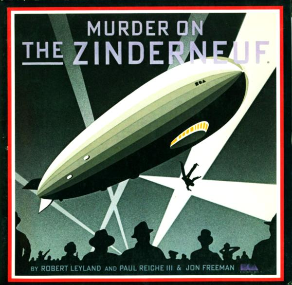 Cover of Murder on the Zinderneuf, a computer game by EA 1984