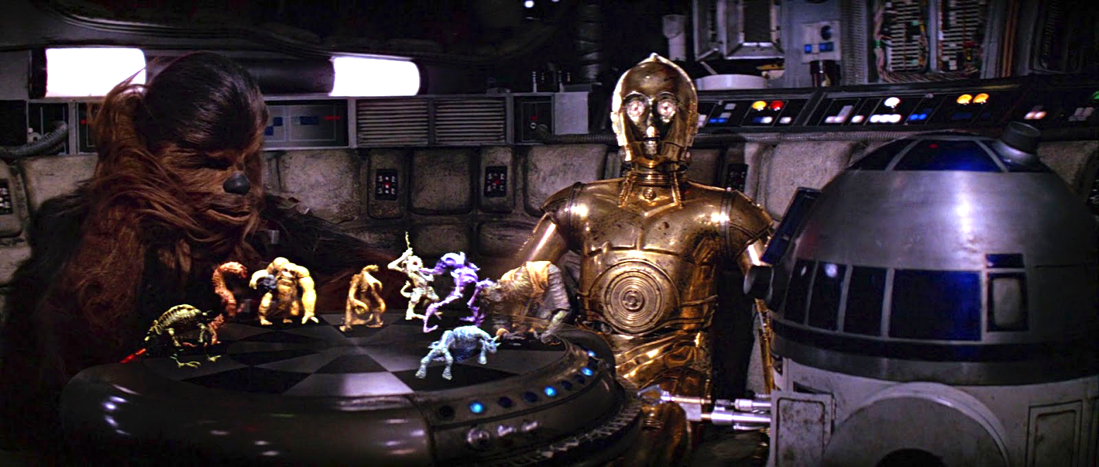 Screencap from Star Wars, a science fiction film from 1977