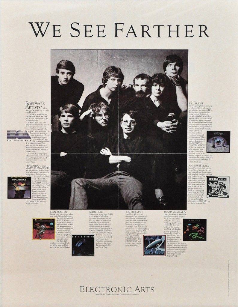 """We See Farther"" magazine ad for Electronic Arts"