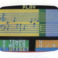Melody Maker, a program for the ECS, a home computer addon for the Intellivision home video game console, Mattel.