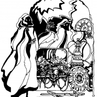 Illustration from Temple of Apshai manual, a computer video game
