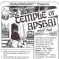 Ad for Temple of Apshai, a computer game by Automated Simulations 1979