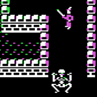Snap of Temple of Apshai, Trilogy edition, a computer RPG by Epyx 1985