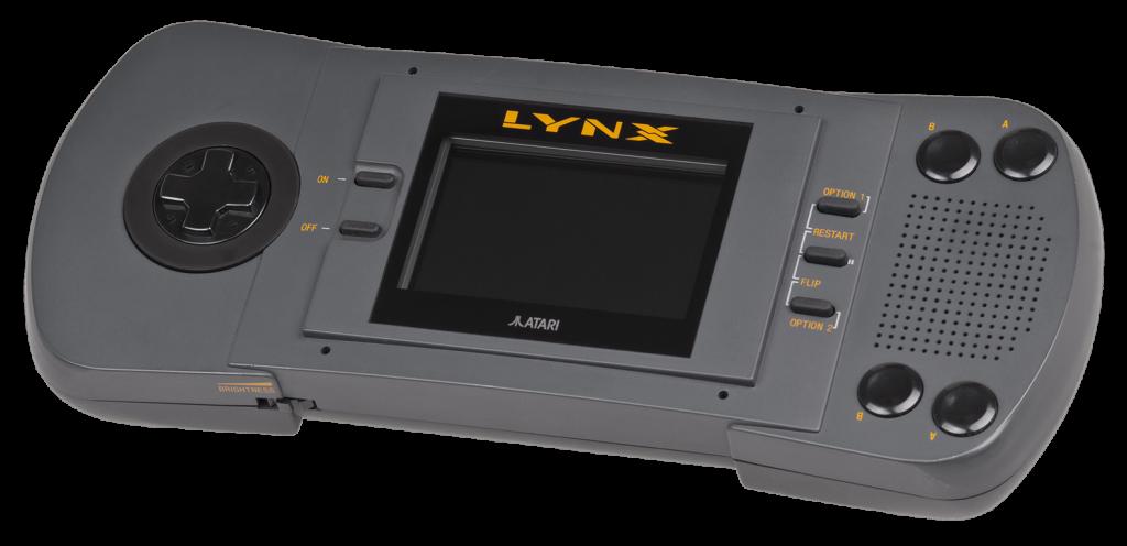 Image of the Atari Lynx handheld game unit, 1989