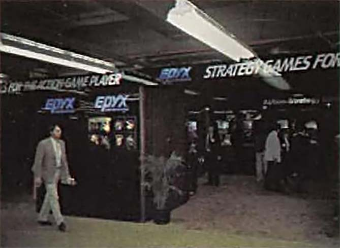 1983 Summer CES booth for Epyx, a computer game company
