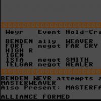 Snap of Dragonriders of Pern, a computer game for the C64 by Epyx 1983