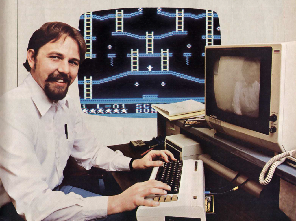 Randy Glover, creator of Jumpman, from 1984 issue of EFWCG