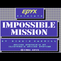 Snap of Impossible Mission, a computer game for the C64 by Epyx 1984