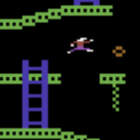 Snap from Jumpman, a computer game for the C64 by Epyx 1983