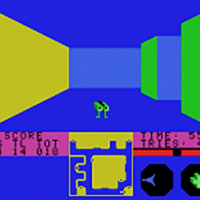 Snap from Escape From the Mindmaster, an Atari VCS/2600 game by Starpath 1982