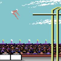 Snap of Summer Games, a computer game for the C64 by Epyx 1984