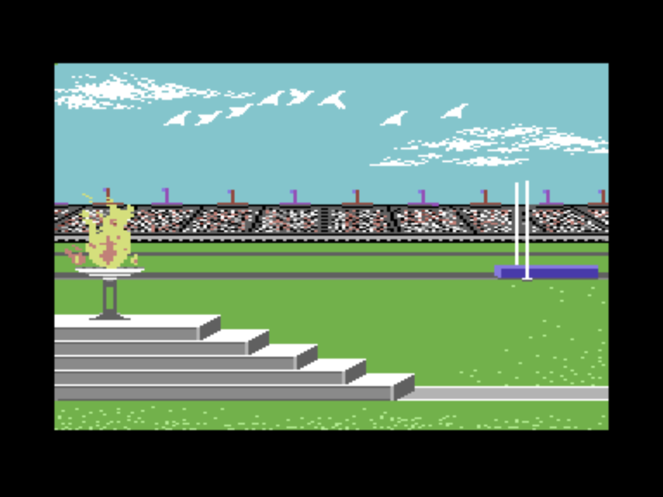 Snap from Summer Games, a computer game for the C64 by Epyx 1984