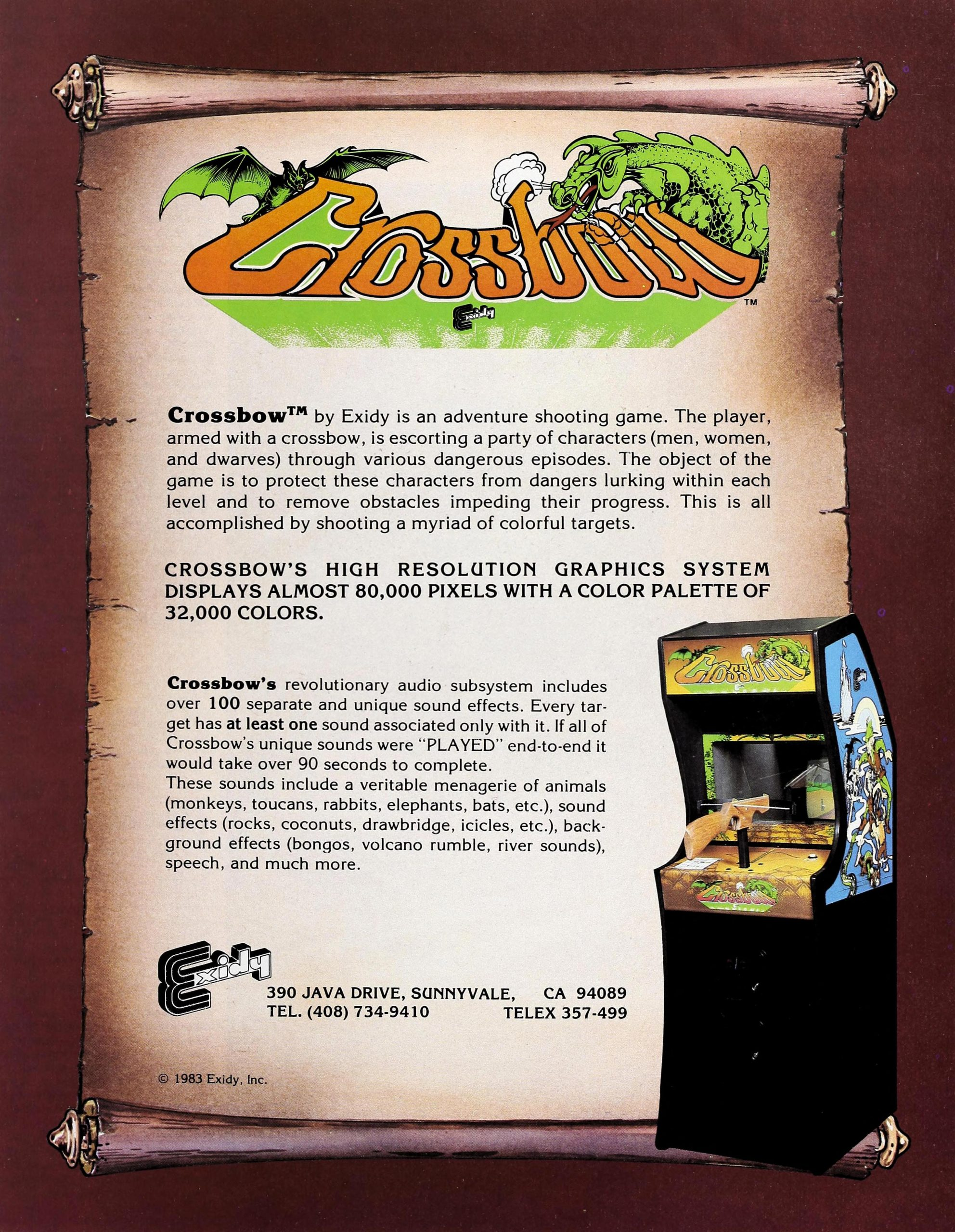 Crossbow, an arcade video game by Exidy