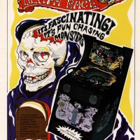 Flyer for Death Race, cause of violence controversy, an arcade video game by Exidy 1976