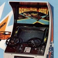 Flyer for Demolition Derby, an arcade video game by Exidy/Chicago Coin 1976