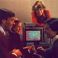 Promo shot for Pac-Man for the Atari 2600 video game system