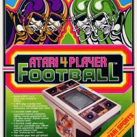 Flyer for Atari 4 Player Football, an arcade video game by Atari 1979