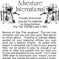 Galactic Empire, a computer video game by Doug Carlston of Broderbund
