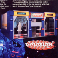 Excerpt from flyer for Galaxian 3 Theater 6, an arcade video game by Namco 1993