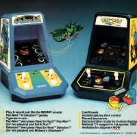 Ad for Coleco TableTop versions of arcade video games Galaxian and Pac-Man