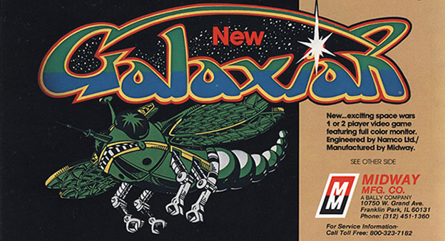 Excerpt from the ad flyer for Galaxian, an arcade video game by Taito/Midway.