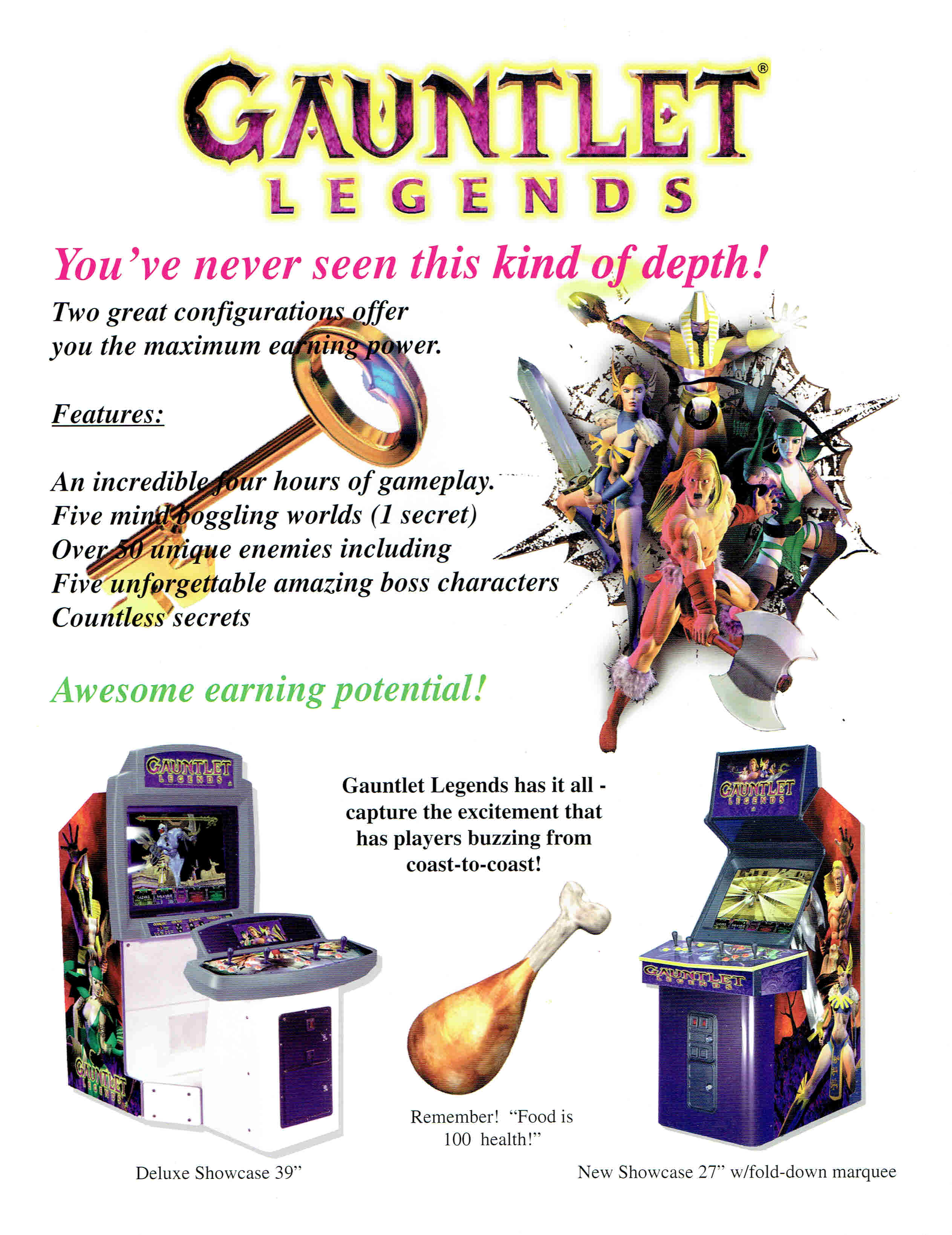 Gauntlet Legends, a 1998 arcade video game by Atari Games