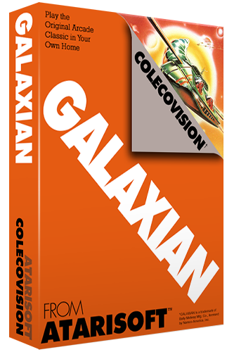 Galaxian, a home video game for the Colecovision video game console