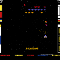 Screenshot from Gorf, an arcade video game by Bally/Midway 1981