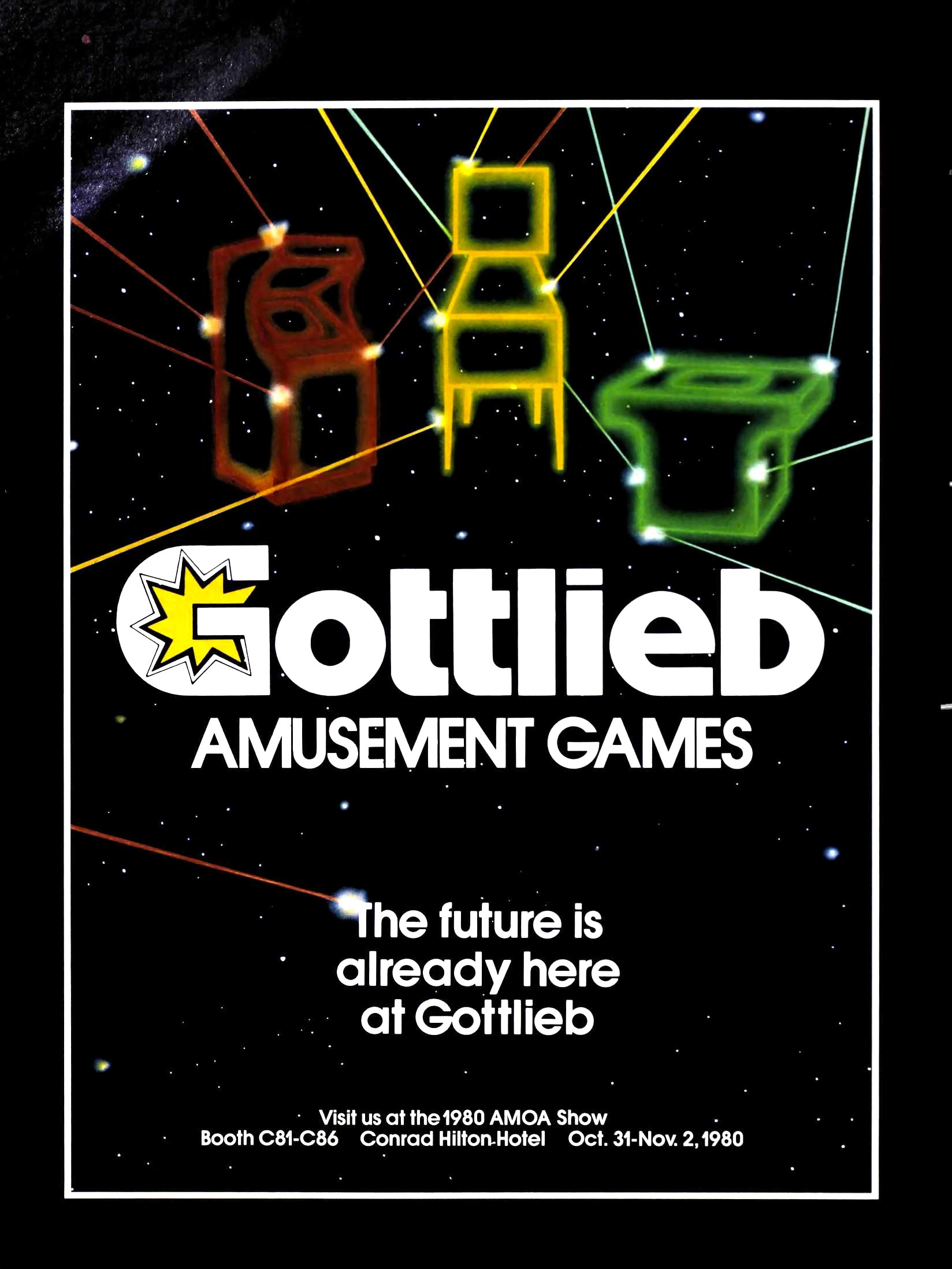 Ad for Gottlieb, maker of arcade video games