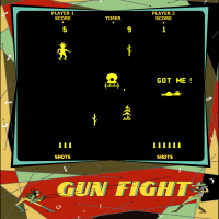 Snap of Gun Fight, an arcade video game by Midway 1975