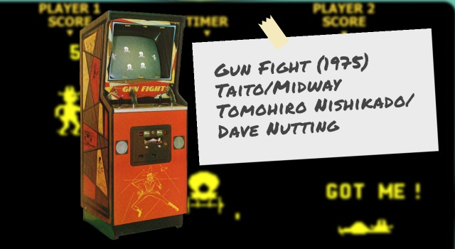 Arcade video game Gun Fight cabinet and screen
