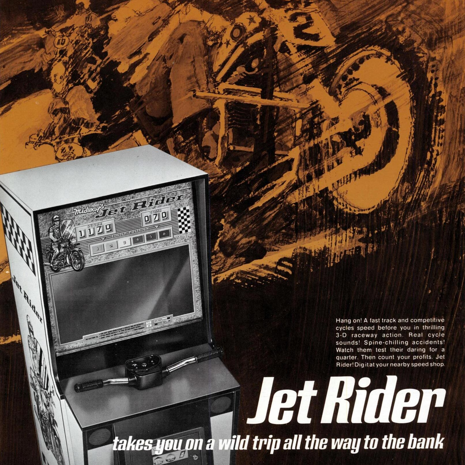 Jet Rider, an eletro-mechanical arcade game by Midway
