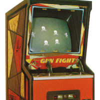 Cabinet for Gun Fight, an arcade video game by Midway 1975