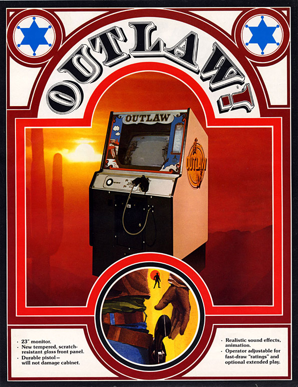 Flyer for Outlaw, an arcade video game by Atari 1976