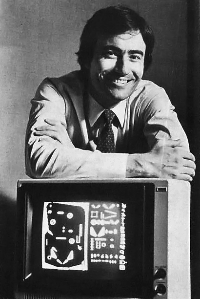 Trip Hawkins, founder of computer video game company Electronic Arts 1983