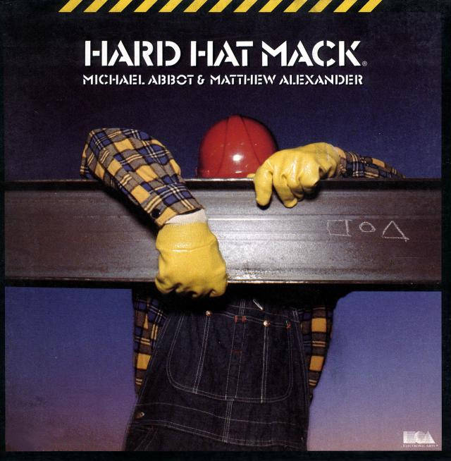 Cover of Hard Hat Mack, a computer game by Electronic Arts 1983