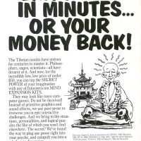 Ad for text adventure games by Infocom, a computer game company