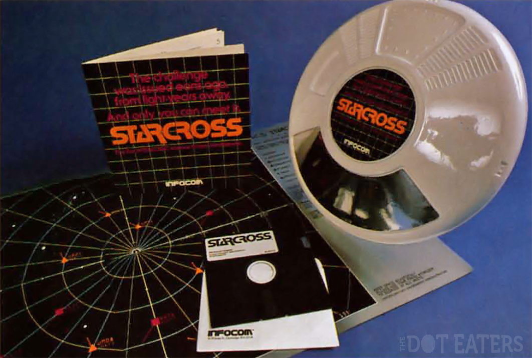 Packaging for Starcross, a text adventure computer game by Infocom, 1982