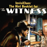 InvisiClues book for The Witness, a text adventure computer game by Infocom