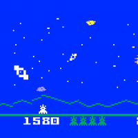 Astrosmash, a video game for the Intellivision by Mattel 1981