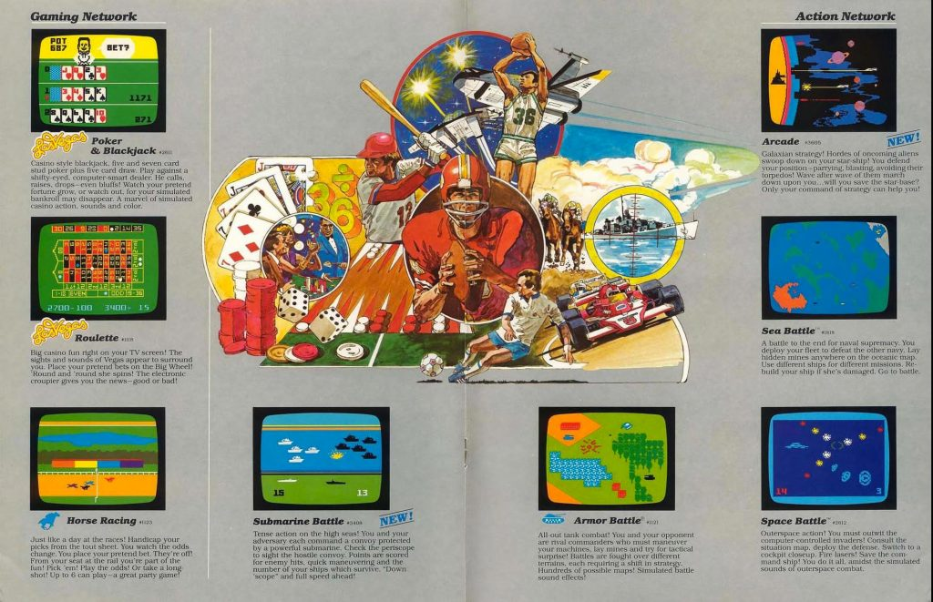 Mattel Electronics catalog page for the Intellivision, a video game console