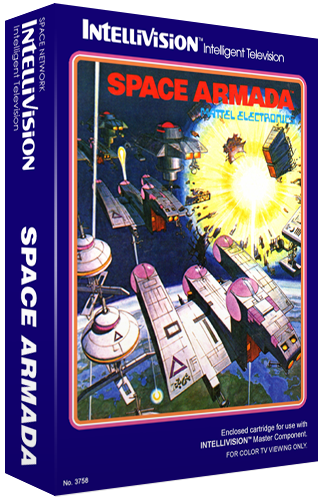 Space Armada, a Space Invaders knockoff home video game for the Mattel Intellivision video game console