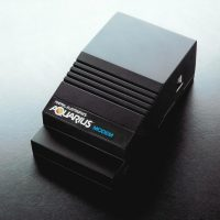 Modem for Aquarius, a home computer system by Mattel